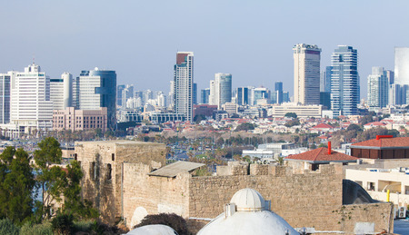 Skyline of Tel Aviv, Israel, as seen from Jaffa