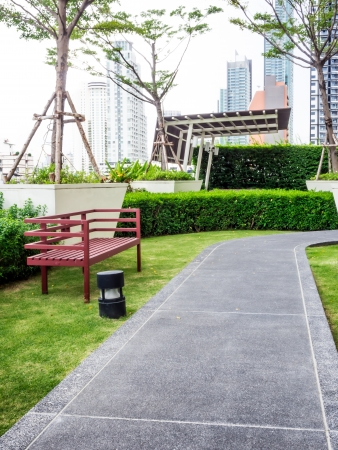 courtyard: Rooftop garden with the Walk path