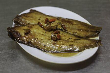 Flounder fish grilled Reklamní fotografie