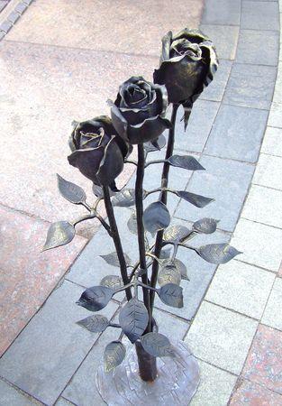 smithery: metal roses Stock Photo
