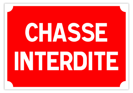 Road sign in France: no hunting sign Banque d'images