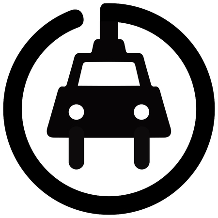 road sign in Quebec and Canada:: electric car charger and guidebook in Quebec, Canada