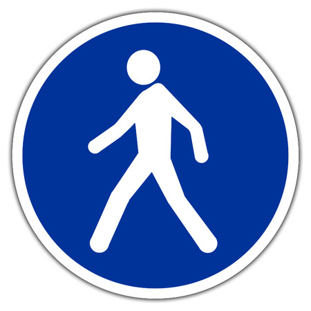 road sign in France and Germany: Pedestrian crossing