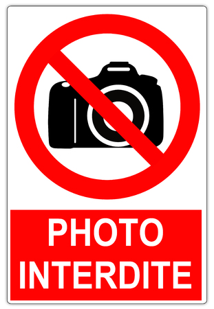 road sign in France: No photography