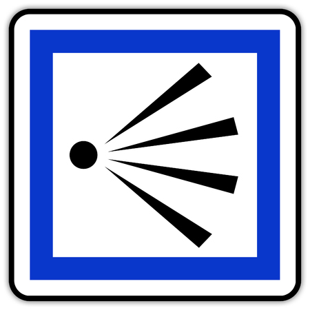 road sign in France: point of view, panoramic Banque d'images