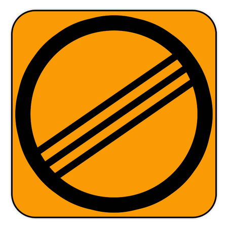 road sign in the rally courses