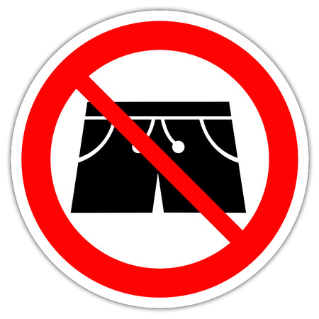 Road sign in France: Boxer shorts not allowed Banque d'images
