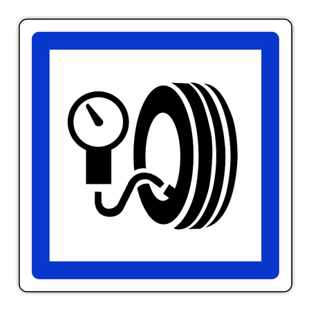 road sign in France: inflation inflation station - service station
