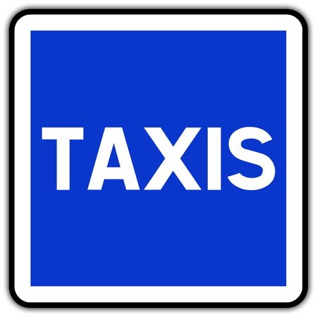 road sign in France: taxi stand taxy zone Banque d'images