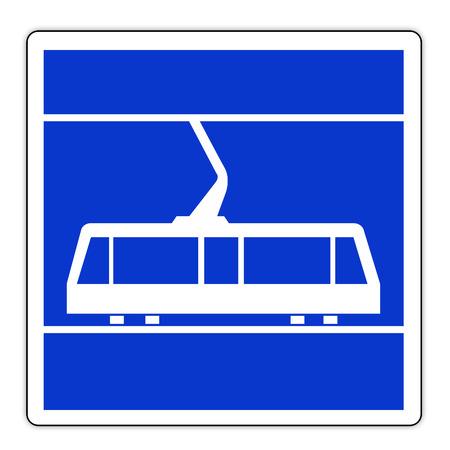 Road sign in France: Tram stop Banque d'images