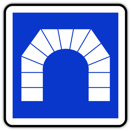 road sign in France: tunnel
