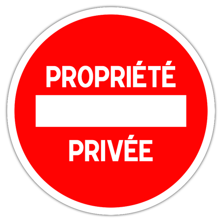 No entry to private property