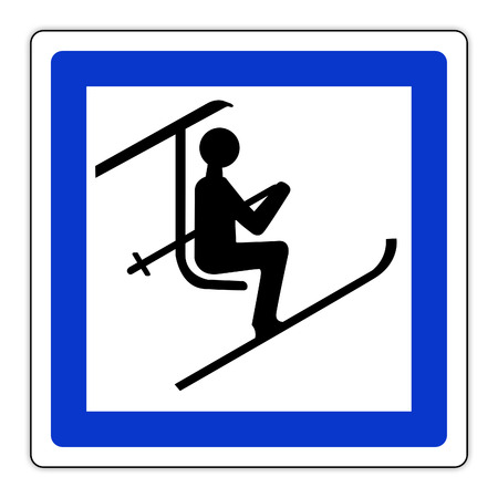 Skilift with chairlift signs