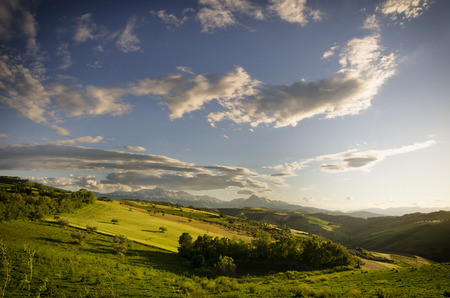 a nice view of italian landscape, abruzzo photo