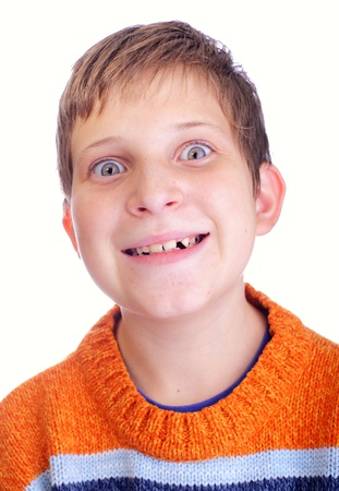Portrait of wacky young child Stock Photo