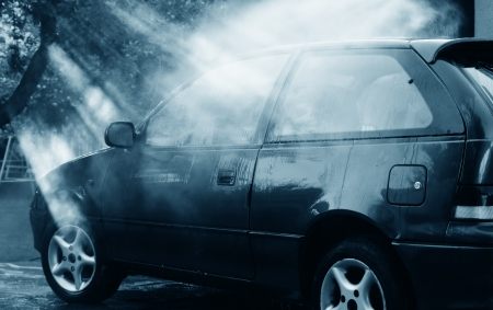 Carwash in beautiful lights Stock Photo - 14978993