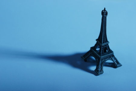 Eiffel Tower souvenir figure, famous French landmark photo