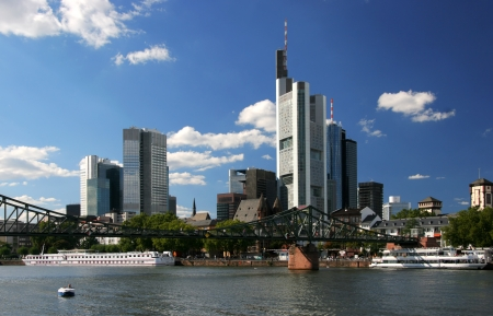 Cityscape of Frankfurt the business center of Germany photo