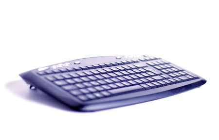 Blue keyboard for pc shallow dof Stock Photo - 14979008