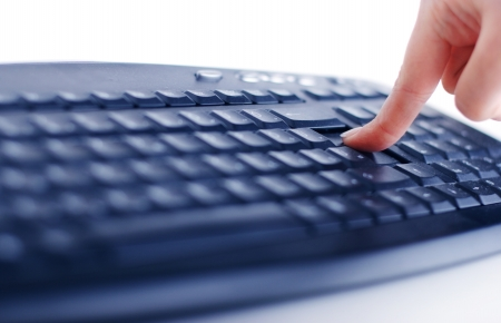 Keyboard with hands closeup view Stock Photo - 14979048