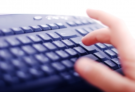 Keyboard with hands closeup view Stock Photo - 14979065