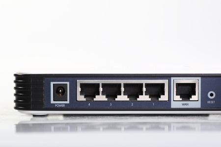 Router network hub without patch cables Stock Photo - 14979038