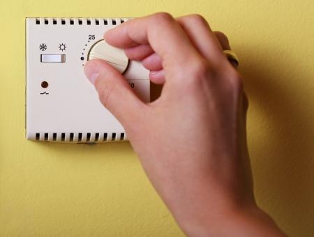 central: Set Hand calefacci�n termostato en casa