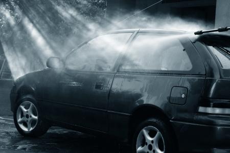 Carwash in beautiful lights