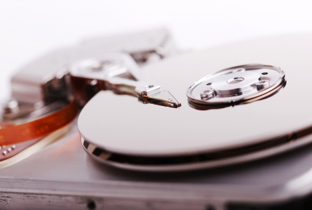 Computer hard disk close up image Stock Photo - 14977780