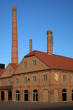 old factory: Old ceramic factory building, Hungary