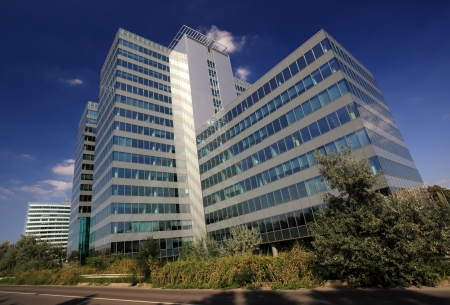 Exterior of a modern skyscraper  Stock Photo