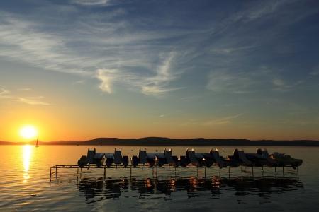 sunup: Sunset at Lake Balaton in summer