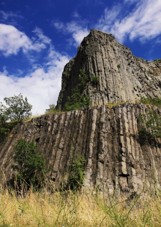 igneous: Basalt columns natural volcanic rock formation in Hungary