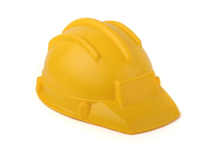 Yellow protective helmet isolated on white Stock Photo - 16496239