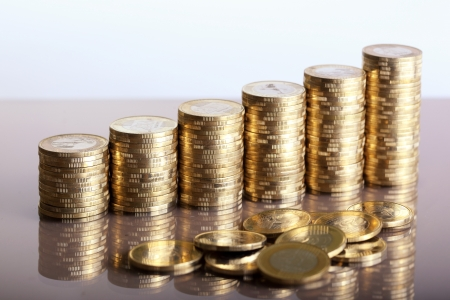 Group of coins business money