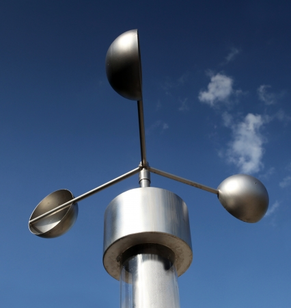 Anemometer, meteorological weather-station measurement equipment
