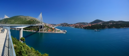 Modern Franjo Tudman Bridge, Dubrovnik photo