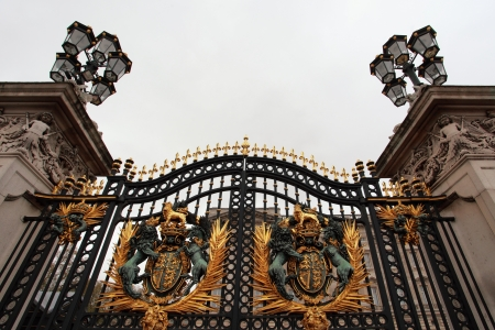 main: The gate of the Buckingham palace in London Editorial