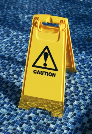 Slippery floor surface warning sign Stock Photo - 15689486