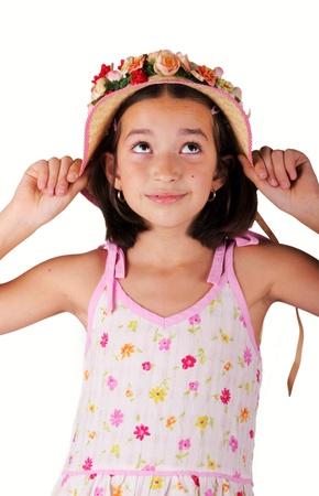 preppy: Nice young girl in springlike cloth