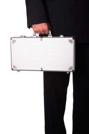 Business man with metal suitcase Stock Photo - 16496259