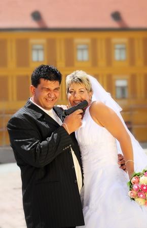 Wedding of a mafia boss outdoor Stock Photo - 16774067