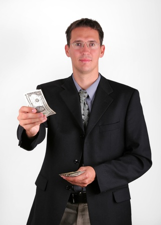 Business man give some notes Stock Photo - 24090705
