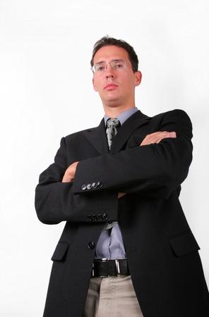 elegant business man: Elegante uomo d'affari cerca rigorosa