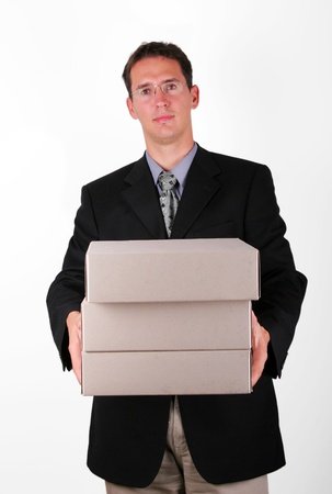 overloading: Overloading business men with files