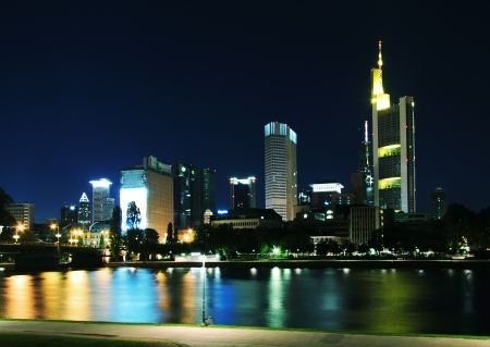 Quay night in Frankfurt-on-Main photo