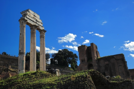 obelisc: Ruins of Rome Forum in Rome, Italy
