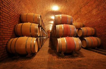 Wine barrels Archivio Fotografico