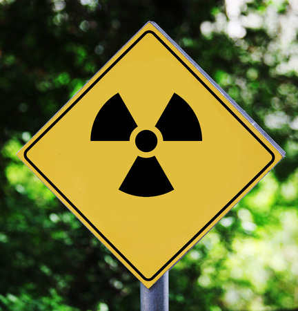 irradiation: Radioactive pictogram Stock Photo