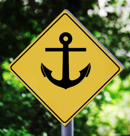 Anchor on label Stock fotó